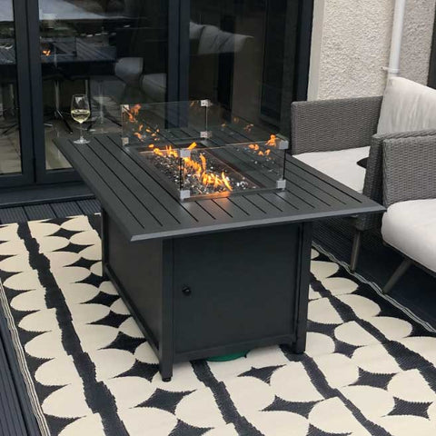 Nova Mercury Rectangular Fire Pit Table - **PRE-ORDER NOW FOR OCTOBER DELIVERY**