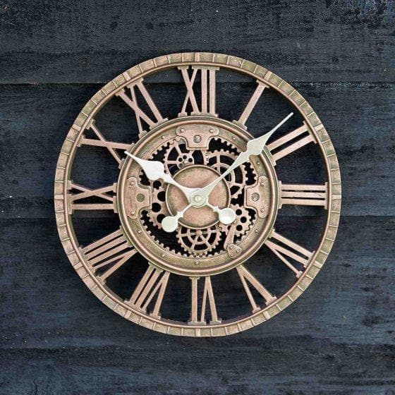 Newby Mechanical Wall Clock 12in - Bronze