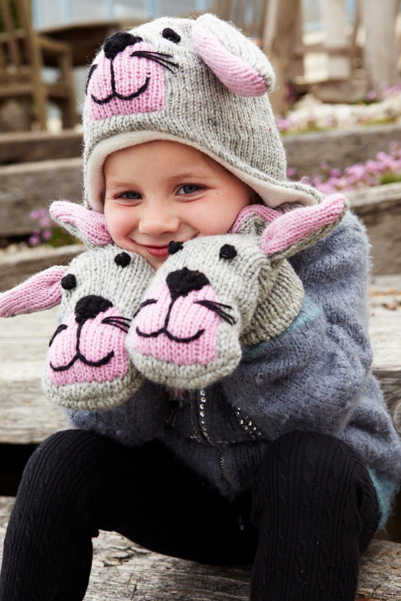 Kids Animal Mittens Bunny Rabbit