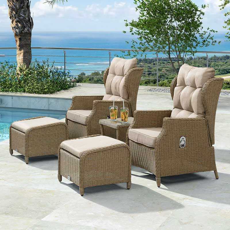 Nova - Skylar Reclining Lounge Companion Set - Willow