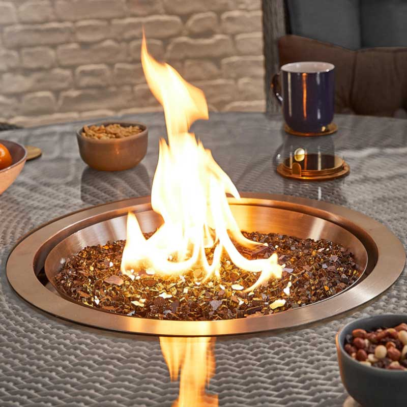 Nova - Heritage -Thalia 6 Seat Dining Set - 1.5m Round Firepit Table - White Wash