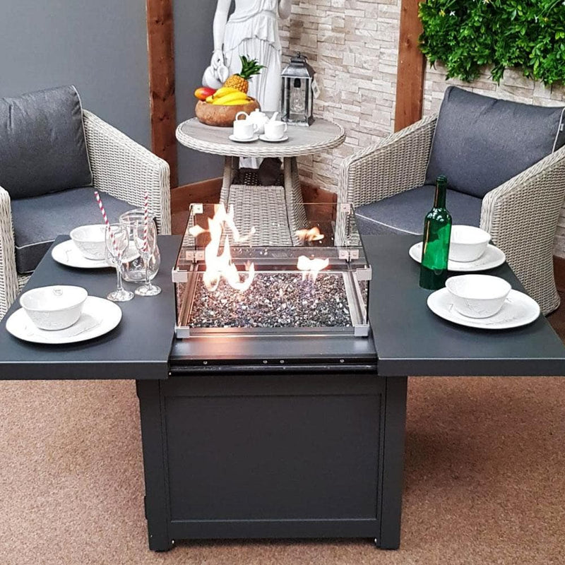 Nova | Venus Aluminium Extending Gas Firepit Table