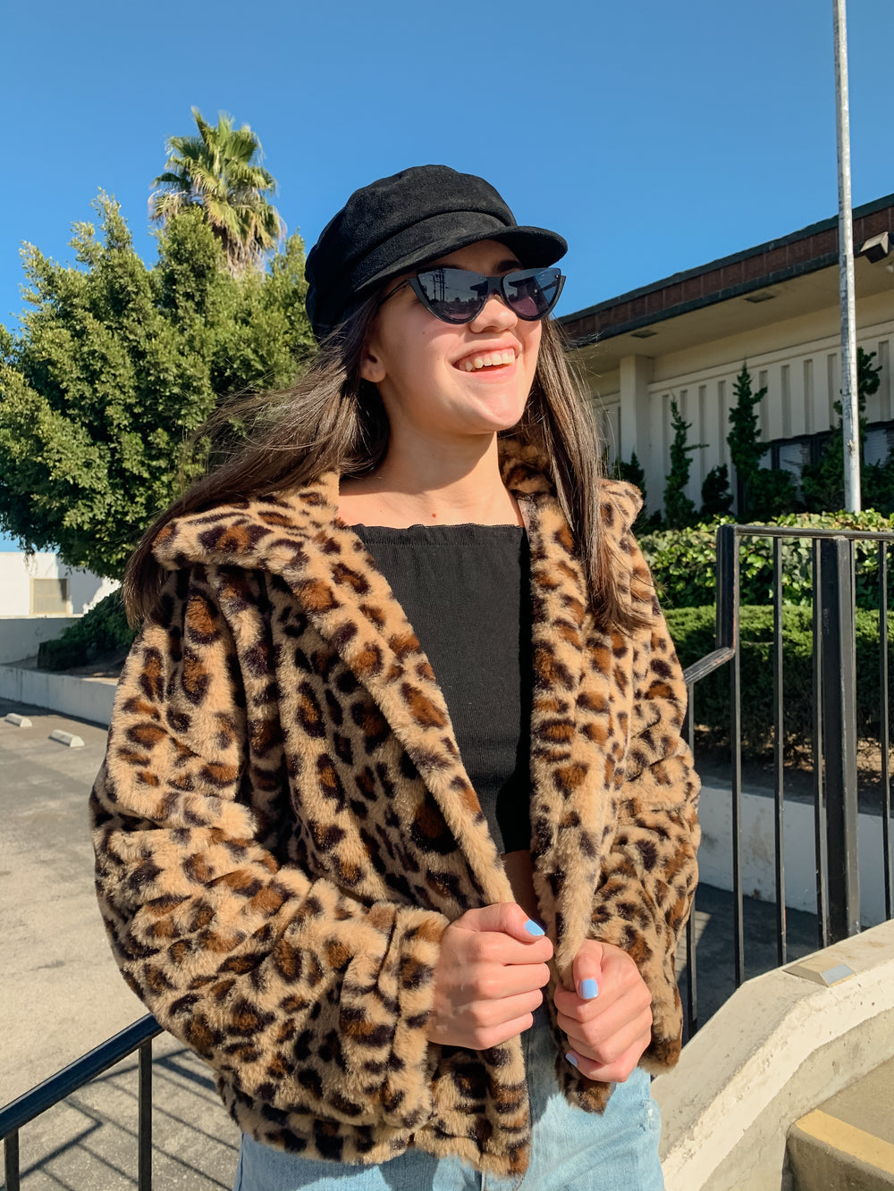 Cheetah Faux Fur Jacket
