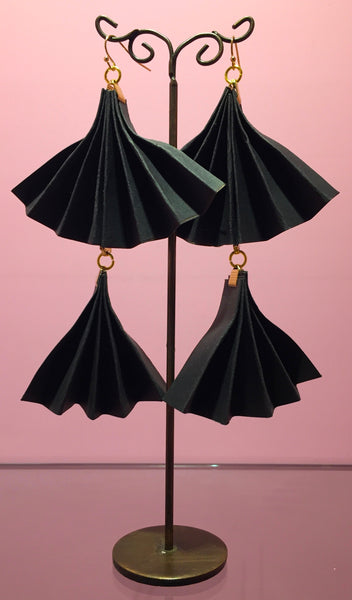 Pleat Fan Earrings