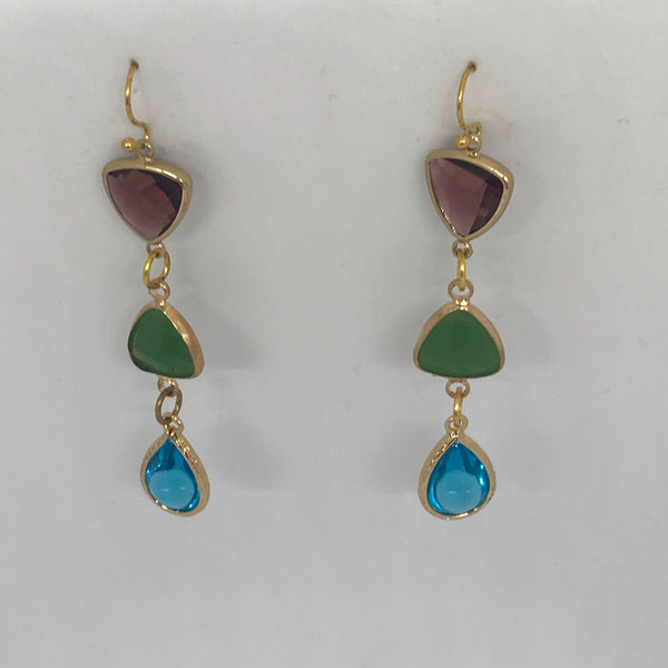 3 stone earrings