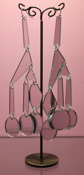Mirrored Perspex Earrings