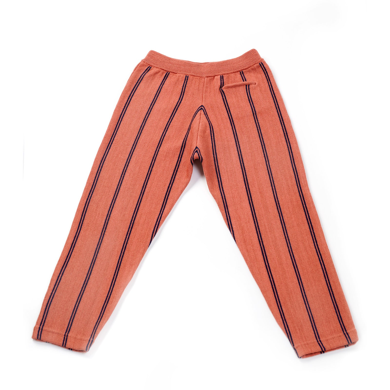 Cosy Stripy Knitted Trousers | Dusty Pink