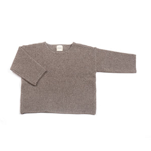 Chubby Ribbed Jumper | Camel