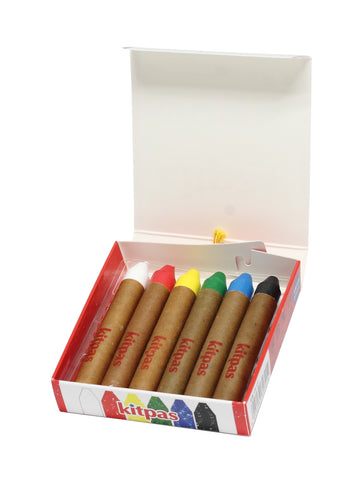 KITPAS | ECO-FRIENDLY CRAYONS SET OF 6 (POCKET SIZE)