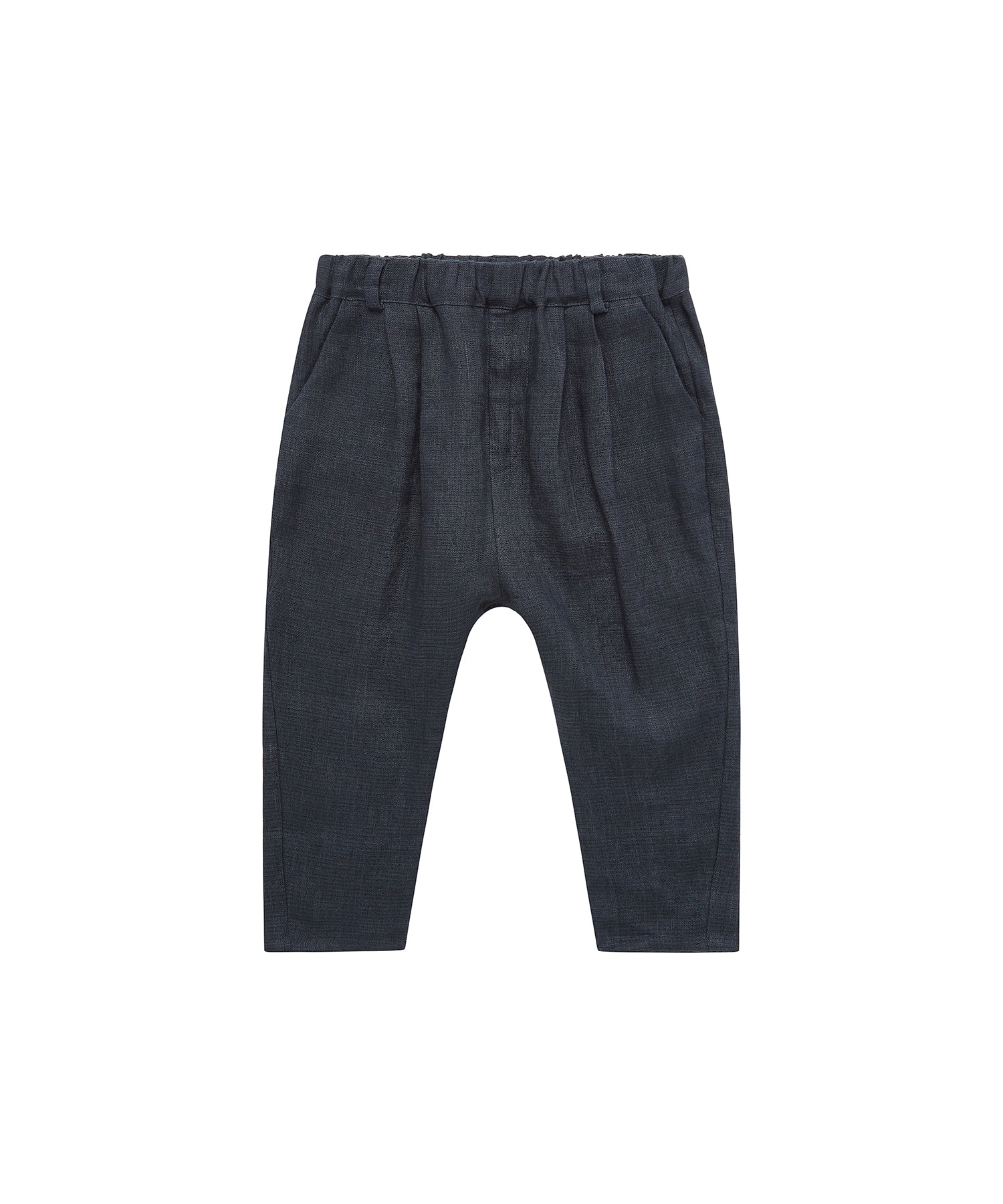 Pure Linen Trousers -Almost Black