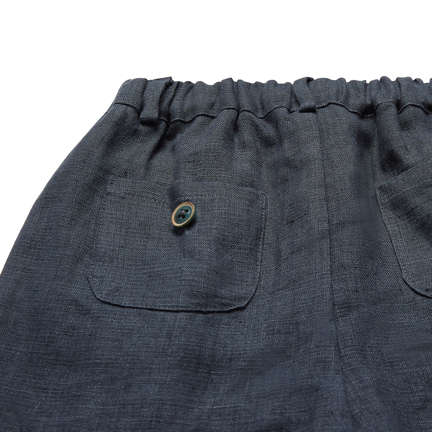 PURE LINEN TROUSERS | ALMOST BLACK