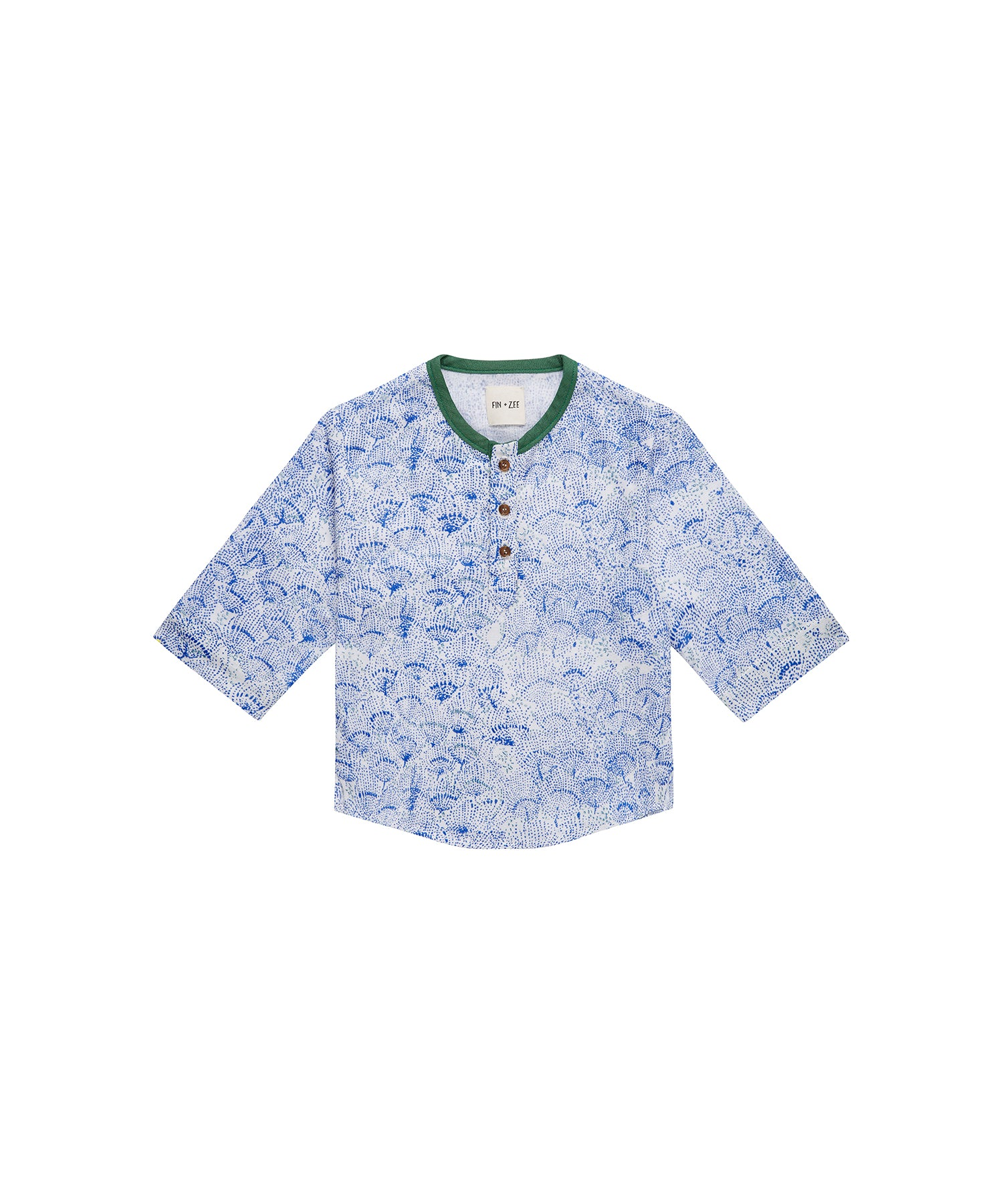 The Fin Shirt - Blue Floral