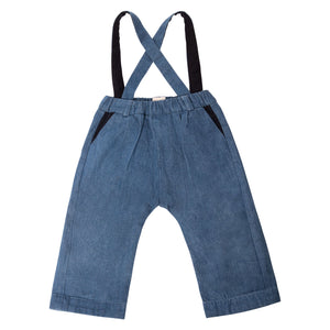 Finnery Dungarees Trousers - Medium Wash