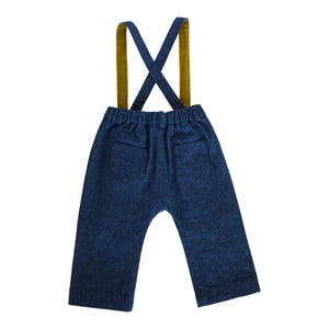 Finnery Dungarees Trousers - Dark Wash
