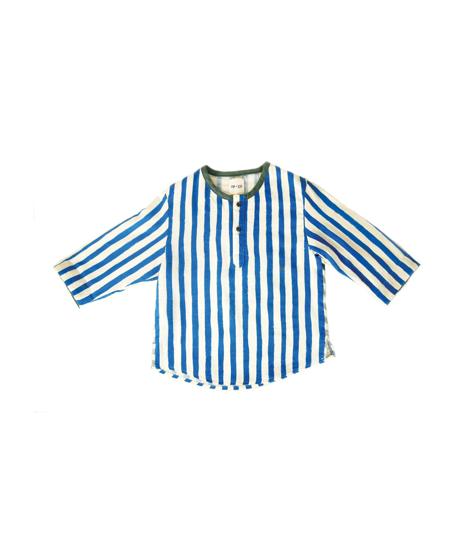 baby blue striped shirt