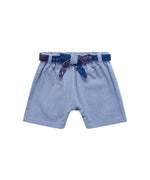 Finnery Dungaree Shorts - Light Wash