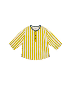 baby yellow striped shirt