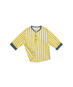 The Fin Shirt - Yellow Stripes