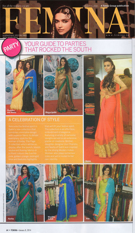 A CELEBRATION OF STYLE- Sakhi featured in FEMINA