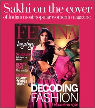 Sakhi on the cover