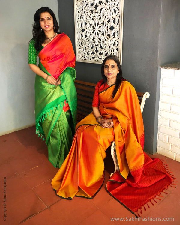 EE-S25216 Orange Payadi Kanchi