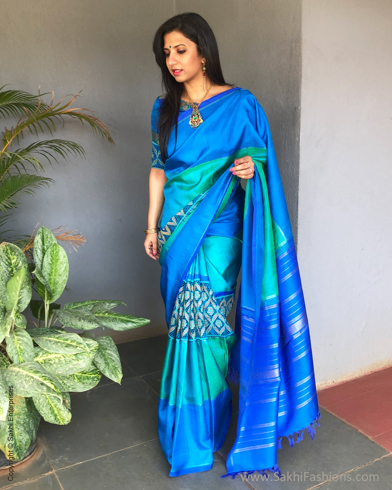 EE-S21058 Kanchi blue Cutwork
