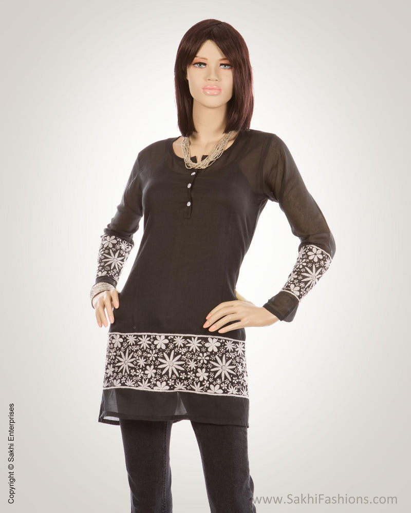 Black & White Pure Cotton Kurti