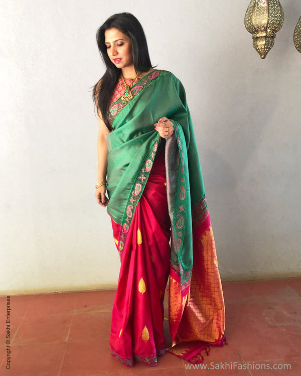 EE-S23299 Green Kanchi Cutwork