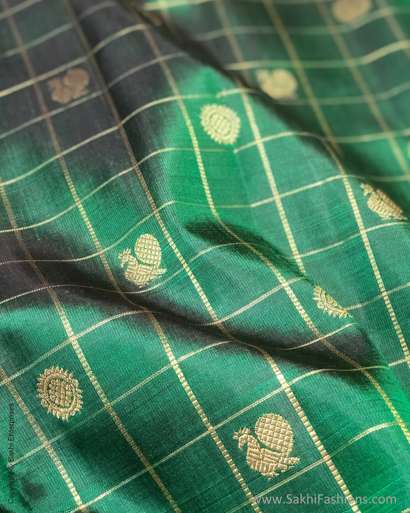 BL-F23769 Green Kanchi Blouse fabric