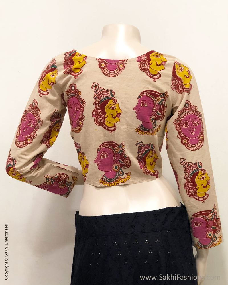 BL-R23884 Kalamkari Cream Blouse