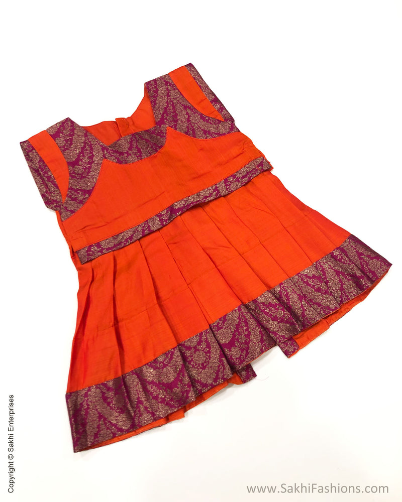 DP-S24378 Orange Kanchi Frock