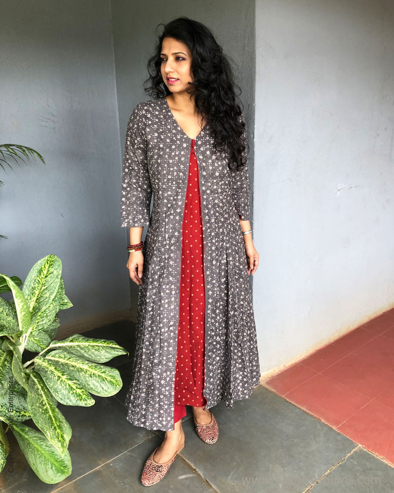 EE-S23943 Rust Grey Kurtha
