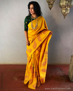 EE-S24759 BlockPrinted Kanchi
