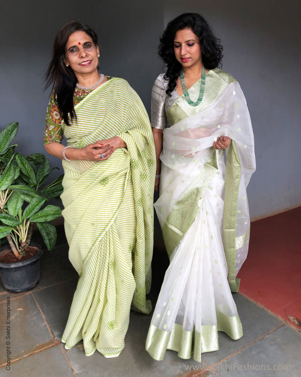 EE-S22804 Green Cotton saree