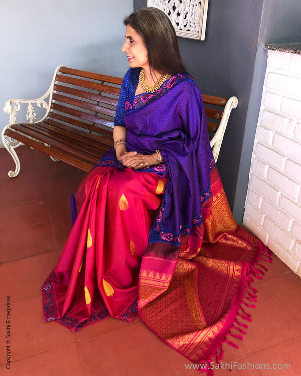 EE-S23446 Blue Kanchi CutWork