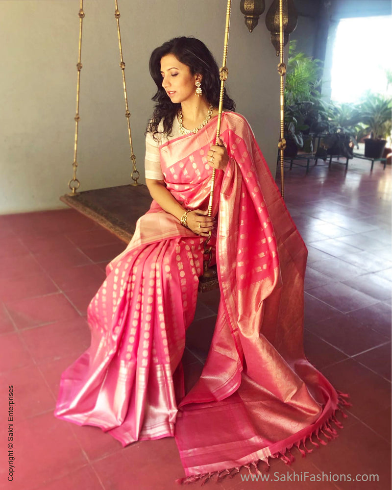 EE-R28031 Pink Silver Kanchi