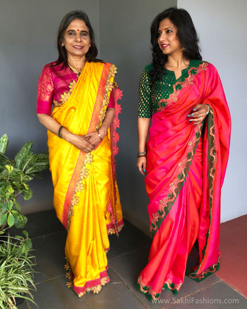 EE-S38988 Yellow Kanchi Cutwork