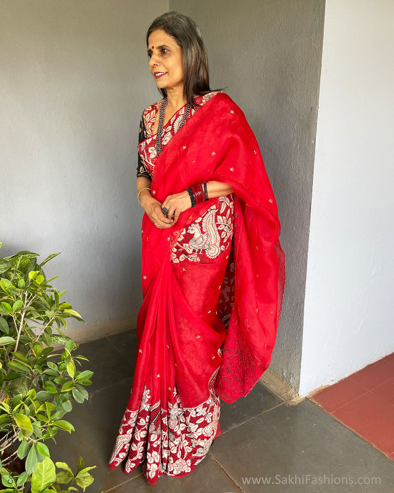 EE-S41009 Red Kalam Cutwork