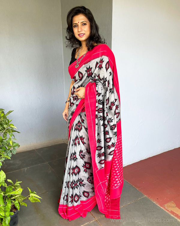 EE-S38045 Cotton Ikath Sari