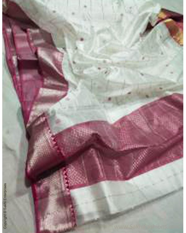 EE-210504 Pink white Chanderi