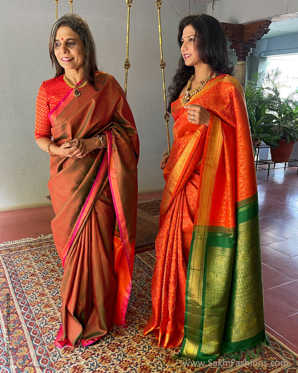 EE-S41479 Green Kanchi Saree