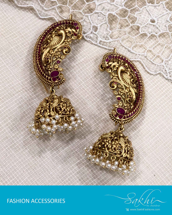 AJDS-22927 - Gold  Mix Metal Earring