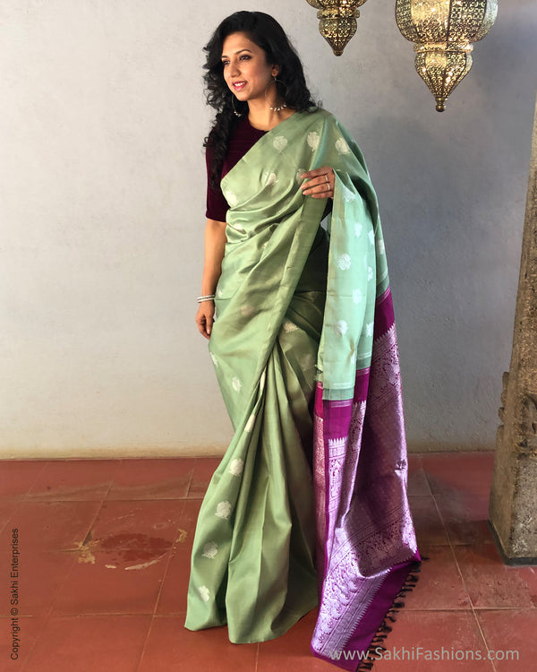 EE-S23898 Silver Green Kanchi