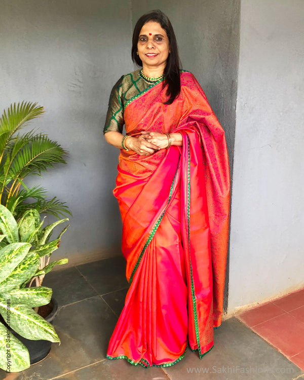 EE-S24948 BlockPrinted Kanchi