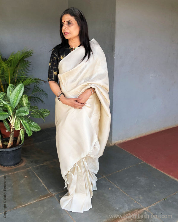EE-S25364 Banarsi Cream Saree