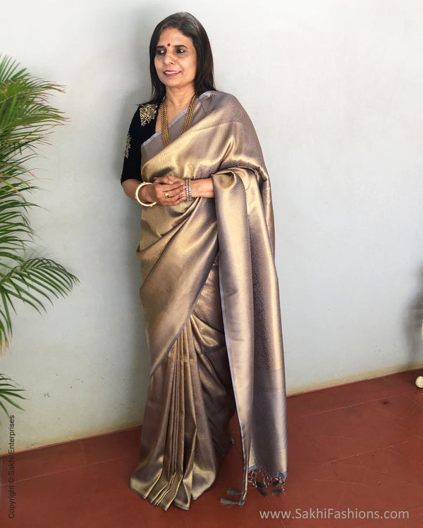 EE-S25392 Banarsi Grey Saree