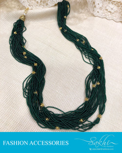 AJDS-0951 - Green &  Mix Metal Mala