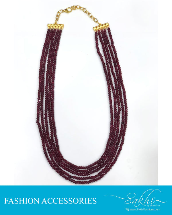 AJDS-0960 - Red &  Mix Metal Mala