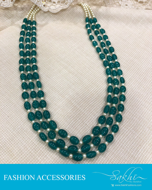 AJDS-0975 - Green &  Mix Metal  Mala