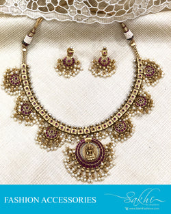 AJDS-20819 -Mix Metal Necklace & Earring